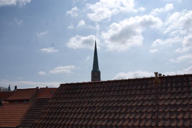 Blick aus Dachfenster