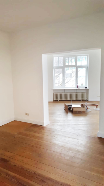 Esszimmer Blick ins Wohnzimmer